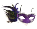Peacock-Venetian-Purple-And-Silver-Mask