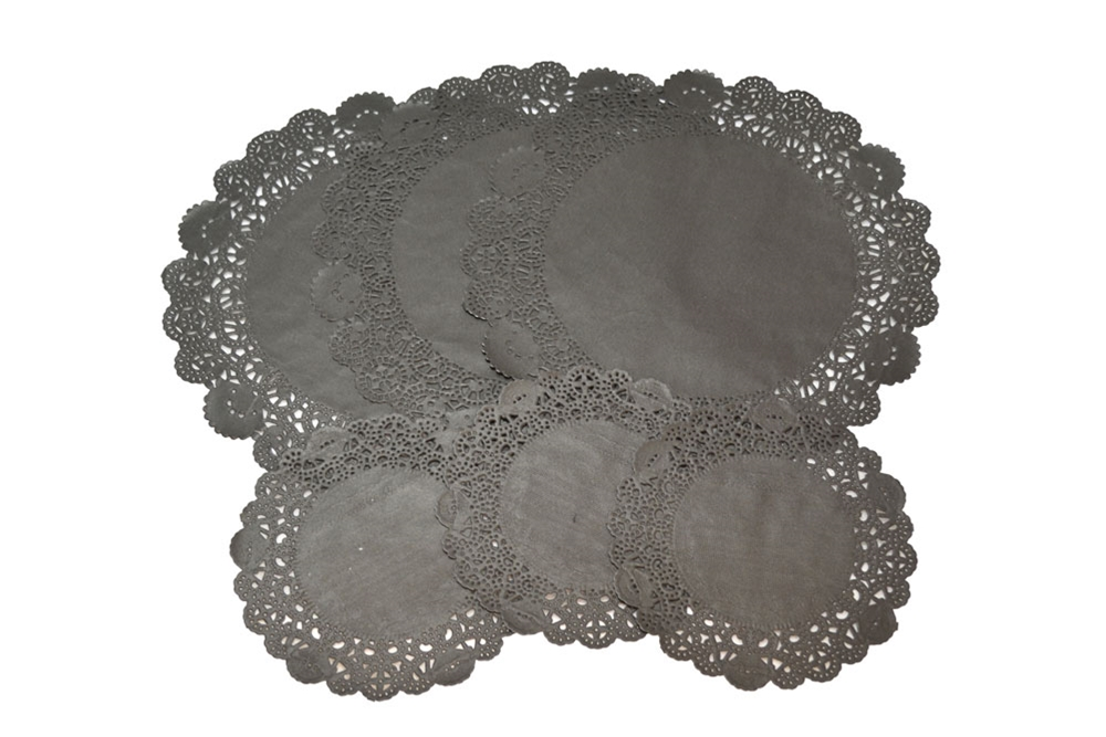 Black Paper Doilies 24ct