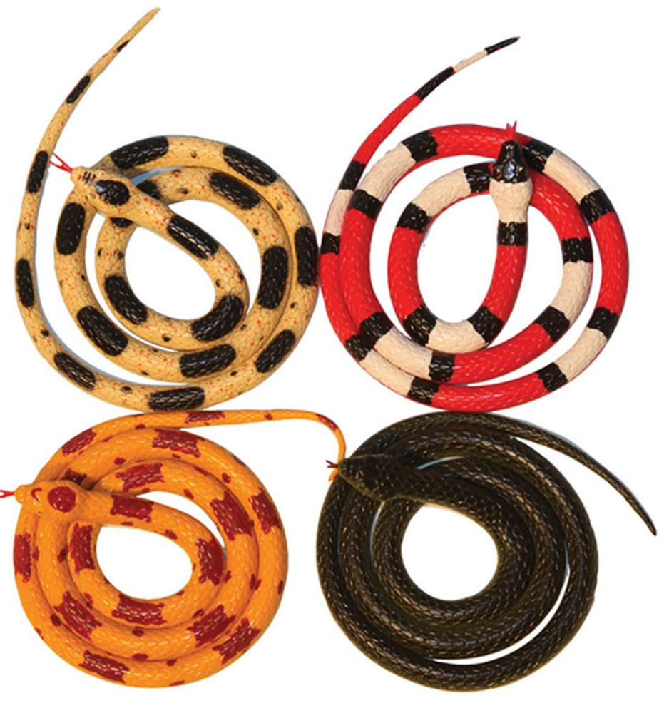 Coiled Rubber Snake 36in
