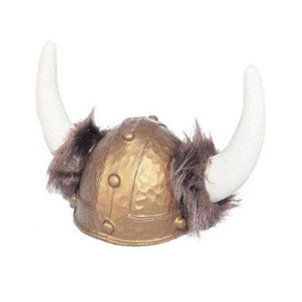 Deluxe Viking Helmet with Fur