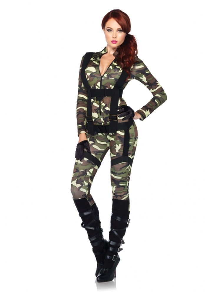 [Pretty Paratrooper Adult Womens Costume] (Adult Pretty Paratrooper Costumes)
