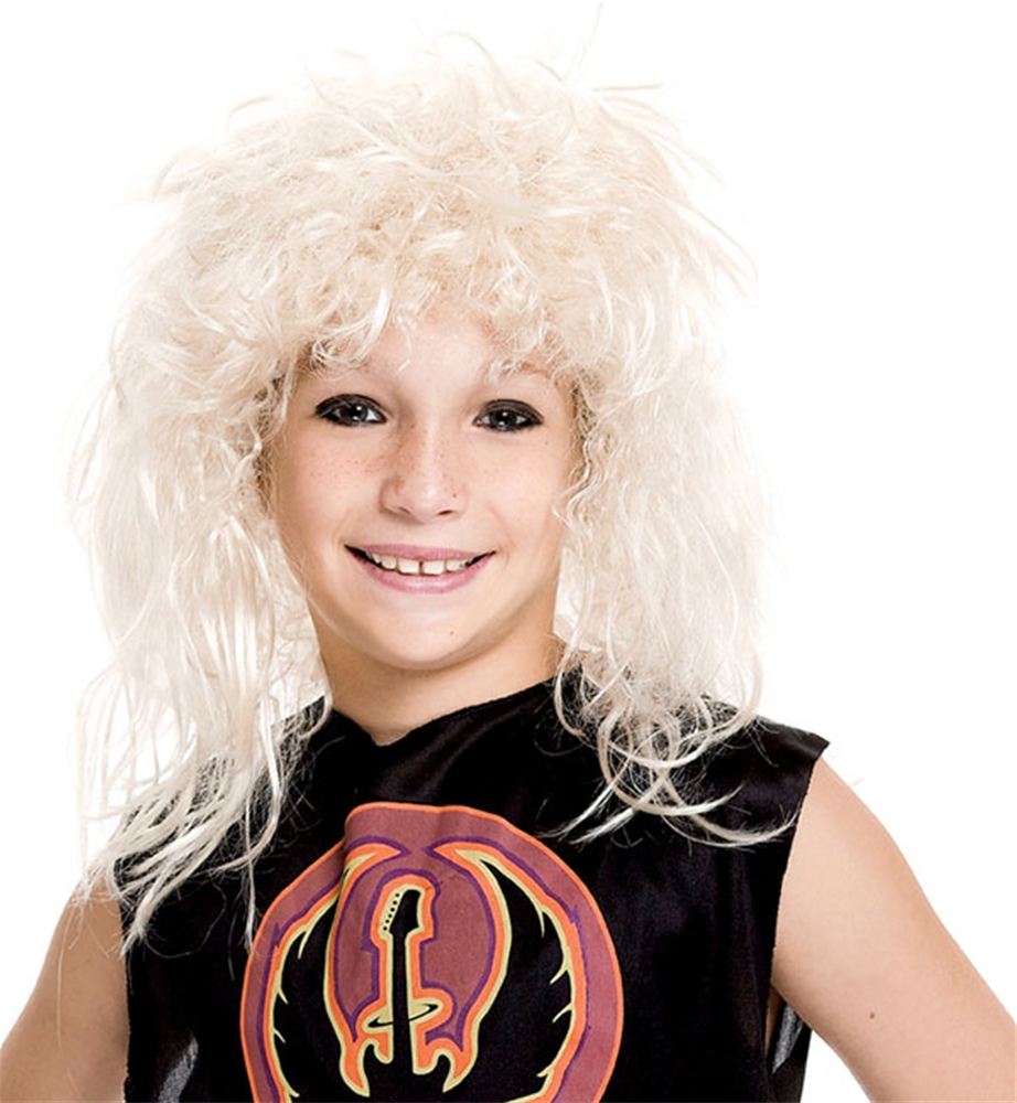 80s Rock Star Blonde Child Wig