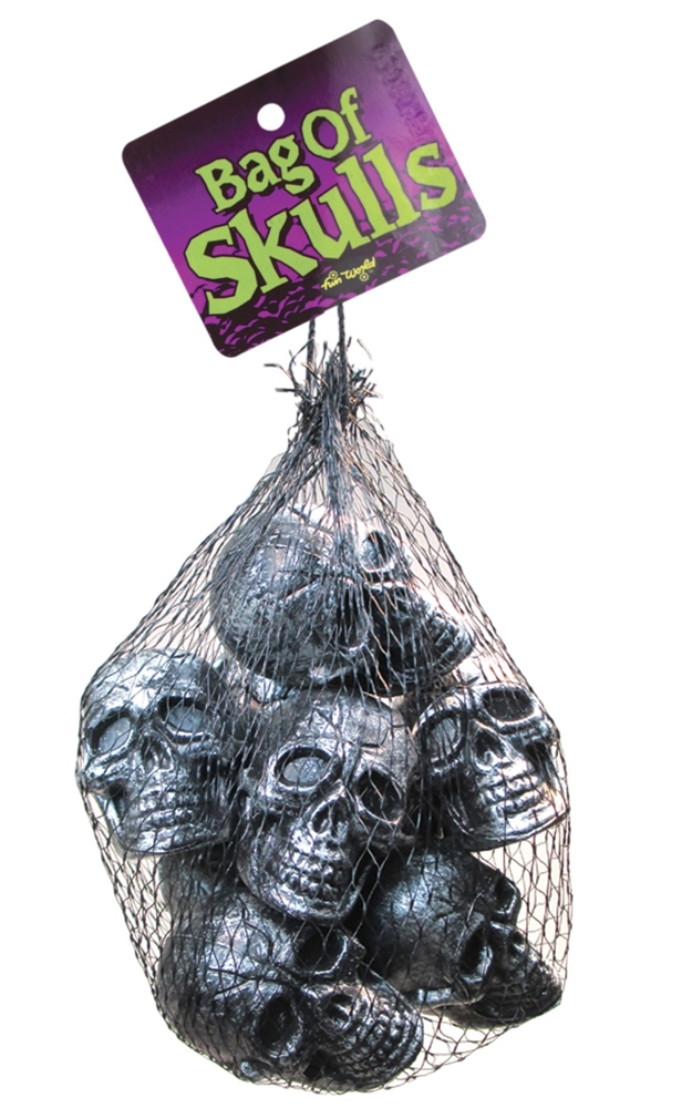 Bag of Silver Skulls 10ct