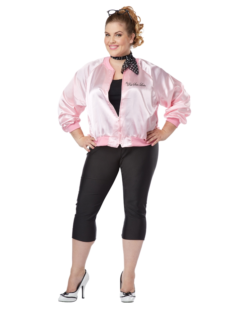 Pink Satin Ladies Adult Womens Plus Size Costume