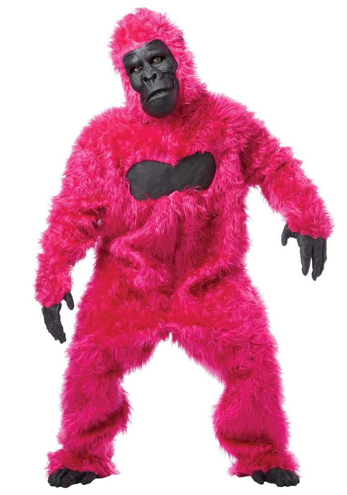 Pink Furry Gorilla Adult Mens Costume