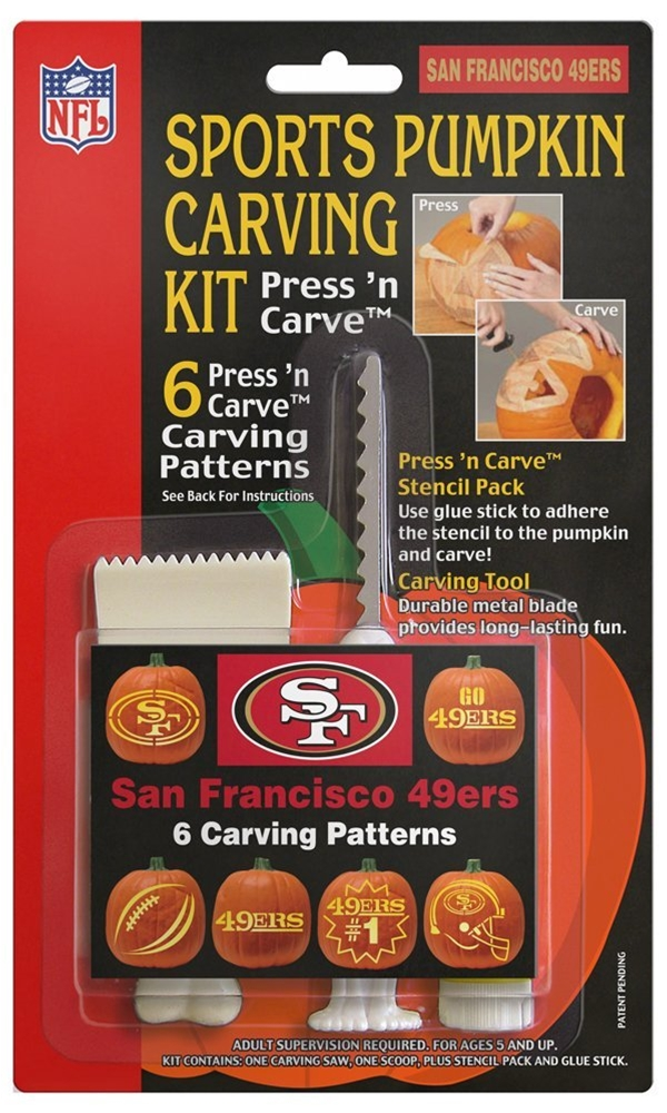 NFL San Francisco 49ers Pumpkin Carving Kit