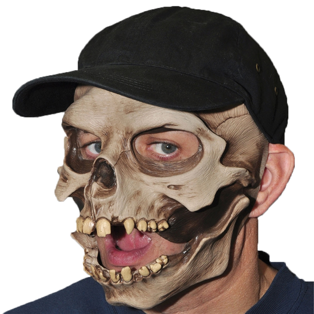 Skull Cap Mouth Mask 301897 Halloween Mask