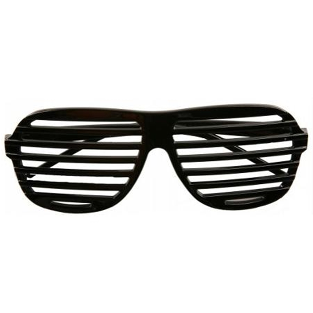 Black Slot Shutter Glasses