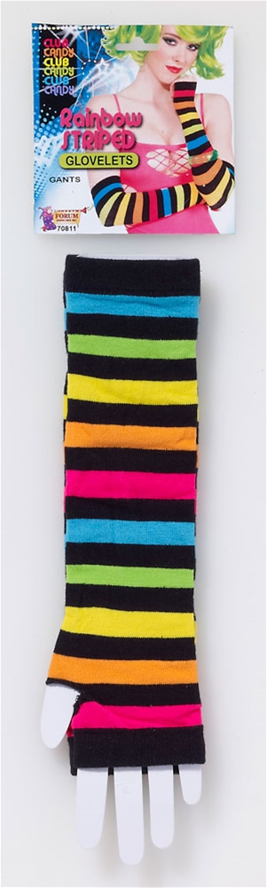 Rainbow Striped Gloves by Forum Novelties