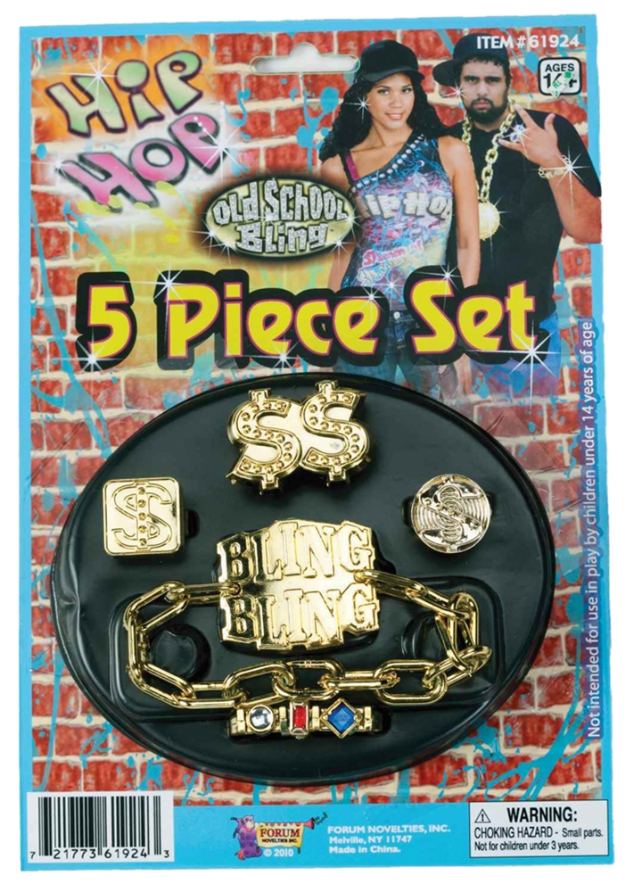 Hip Hop Jewelry Set by Forum Novelties