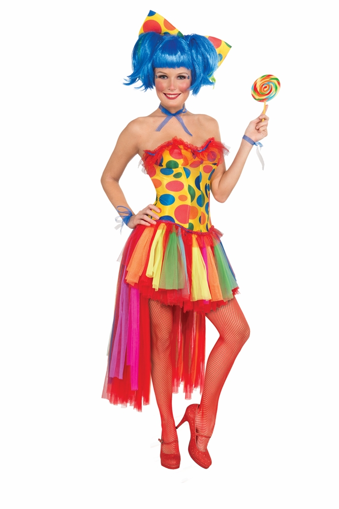 Pippi Polka Dot Clown Adult Womens Corset