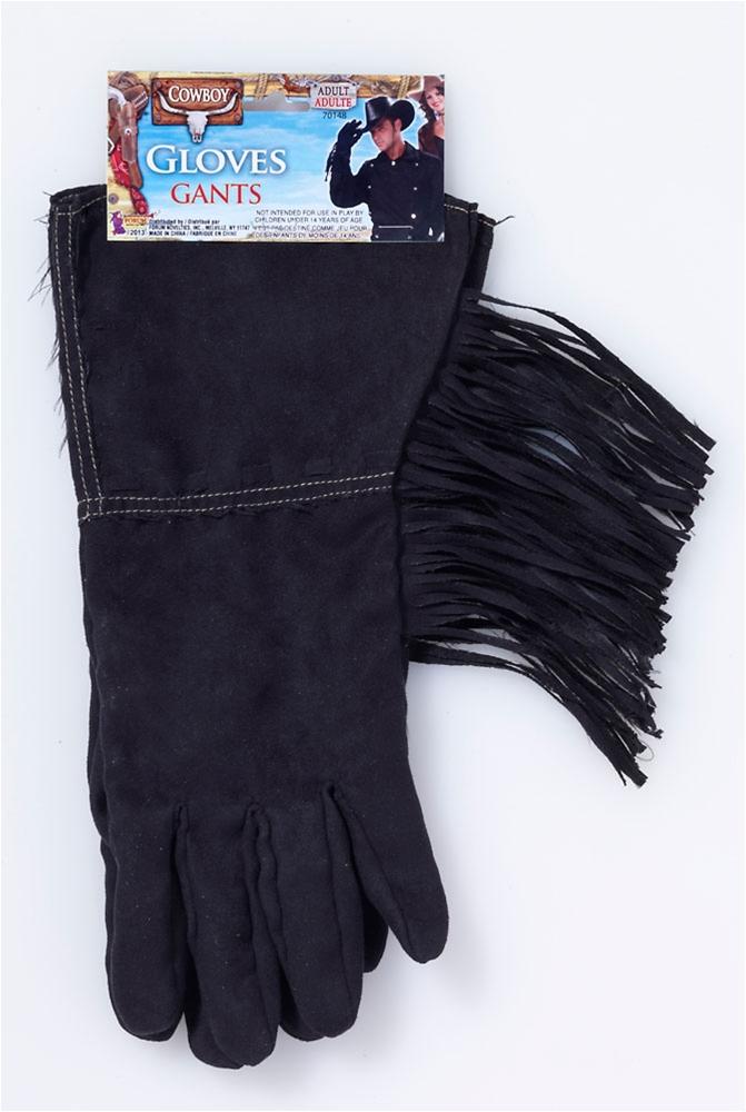 Image of Bad Biker Black Fringe Gloves