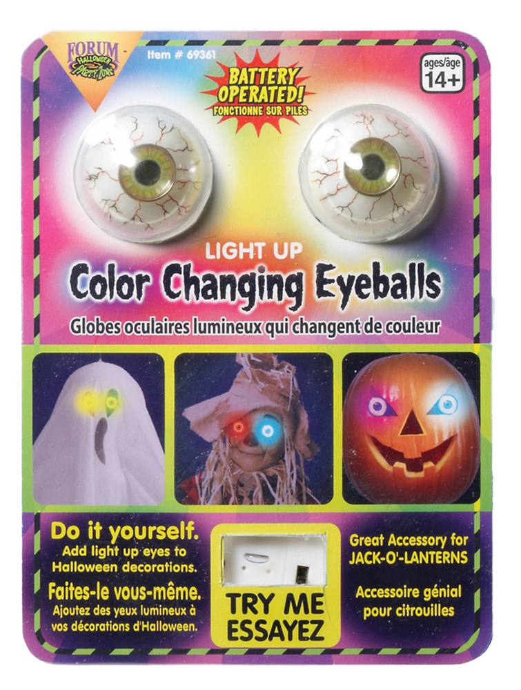 Light-Up Color Changing Eyeballs