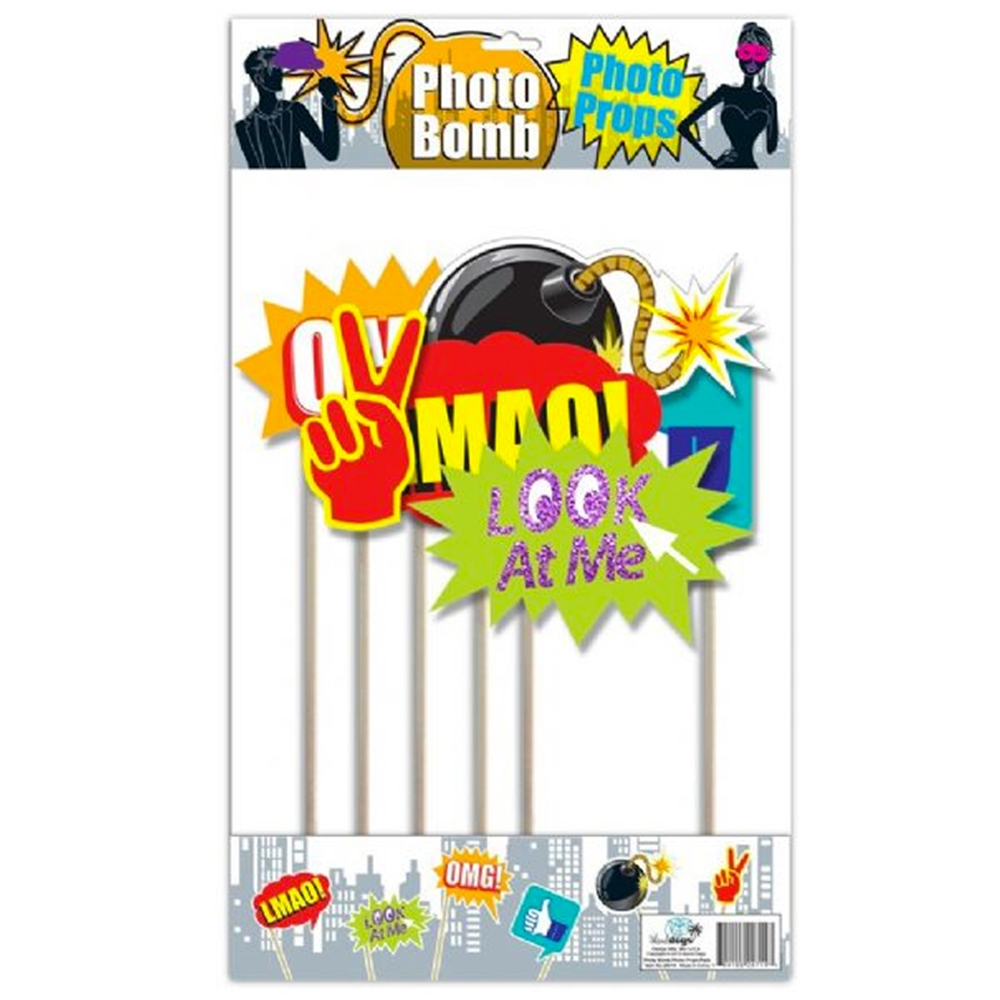 Photo Bomb Photo Prop Set