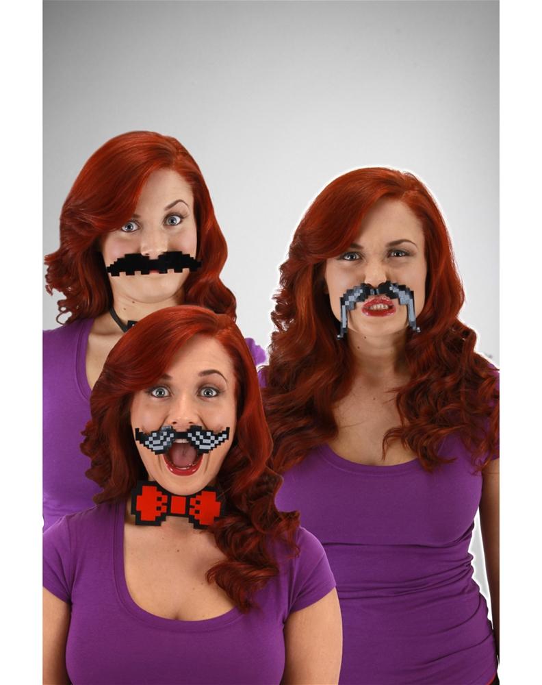 Pixel-8 Moustache Accessory Set