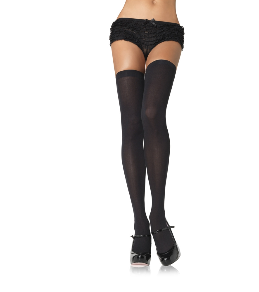 Opaque Nylon Plus Size Thigh Highs (More Colors)