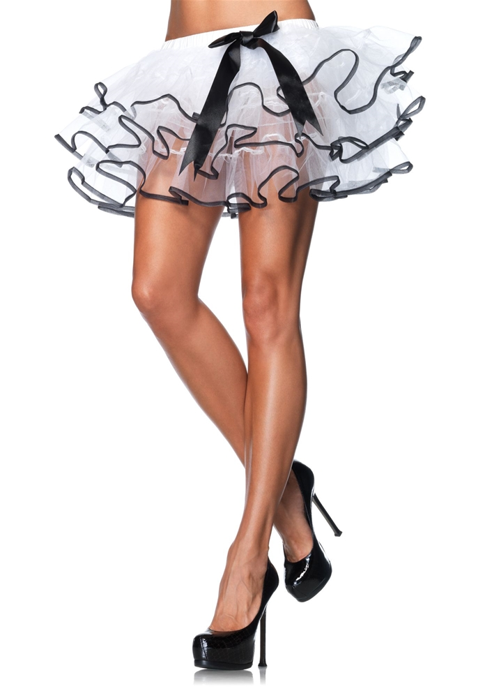 Satin Trimmed Layered Tulle Petticoat (Assorted Colors)