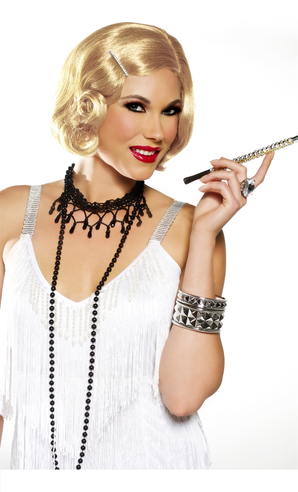 Pin Curl Flapper Honey Blonde Wig