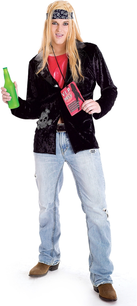 Trainwreckz Rock Lover Adult Mens Costume