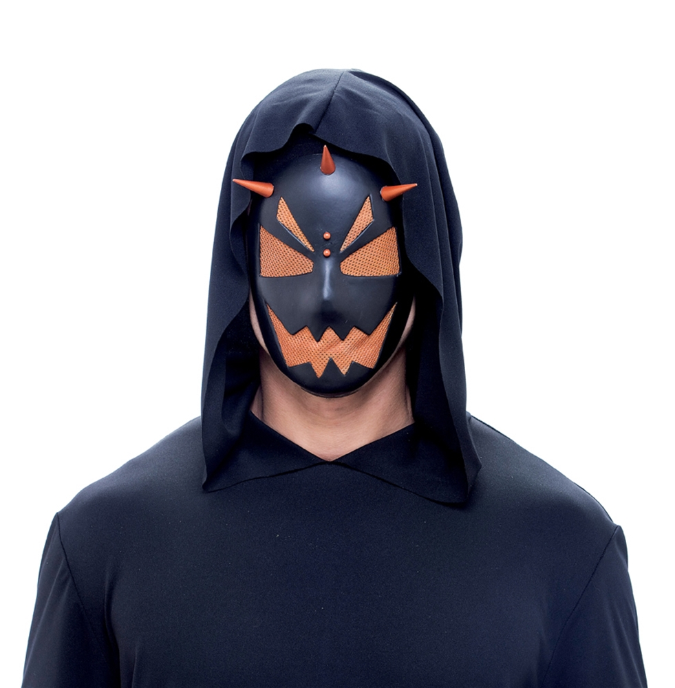 Spiked Hardcore Orange Adult Mask