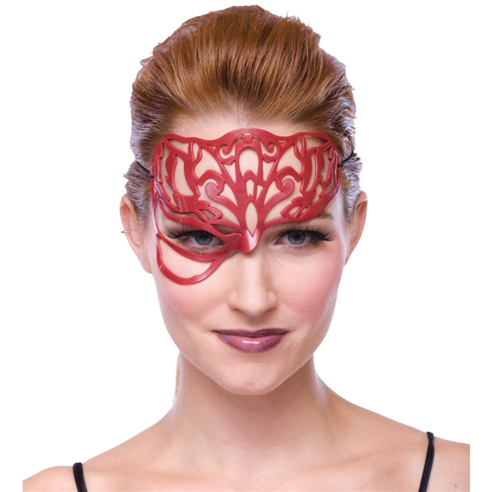 Red Masquerade Filligree Mask by Paper Magic