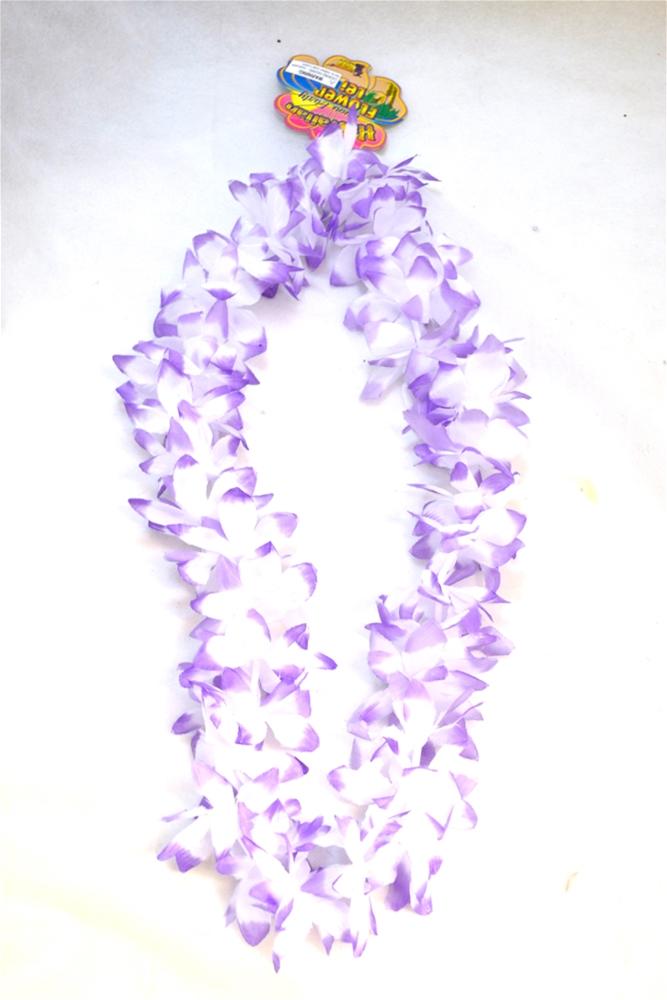 Purple & White Lei