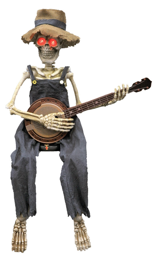 Skeleton Playing Banjo Animated Prop