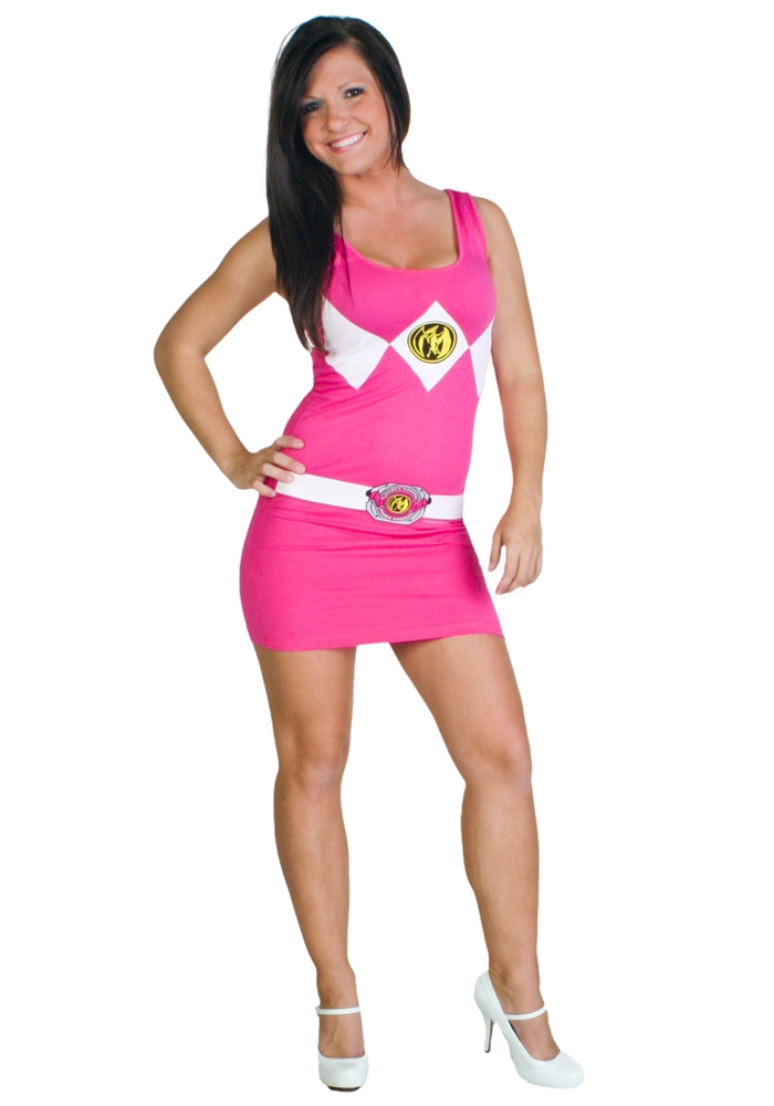 Power Rangers Pink Tank Dress by Mighty Fine