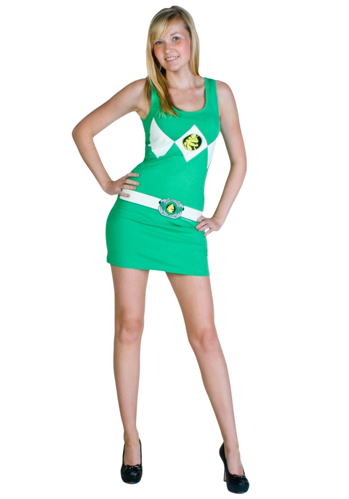 Image of Power Ranger Green Tank Dress