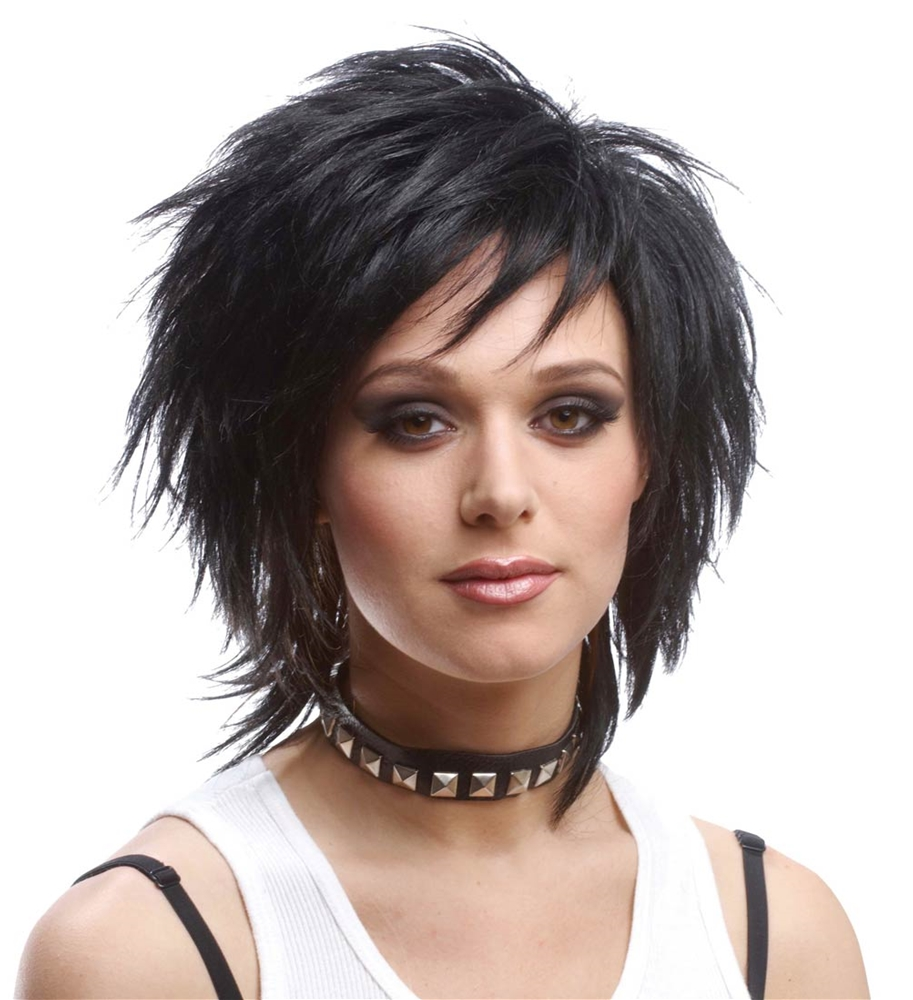 80s Unisex Black Wig