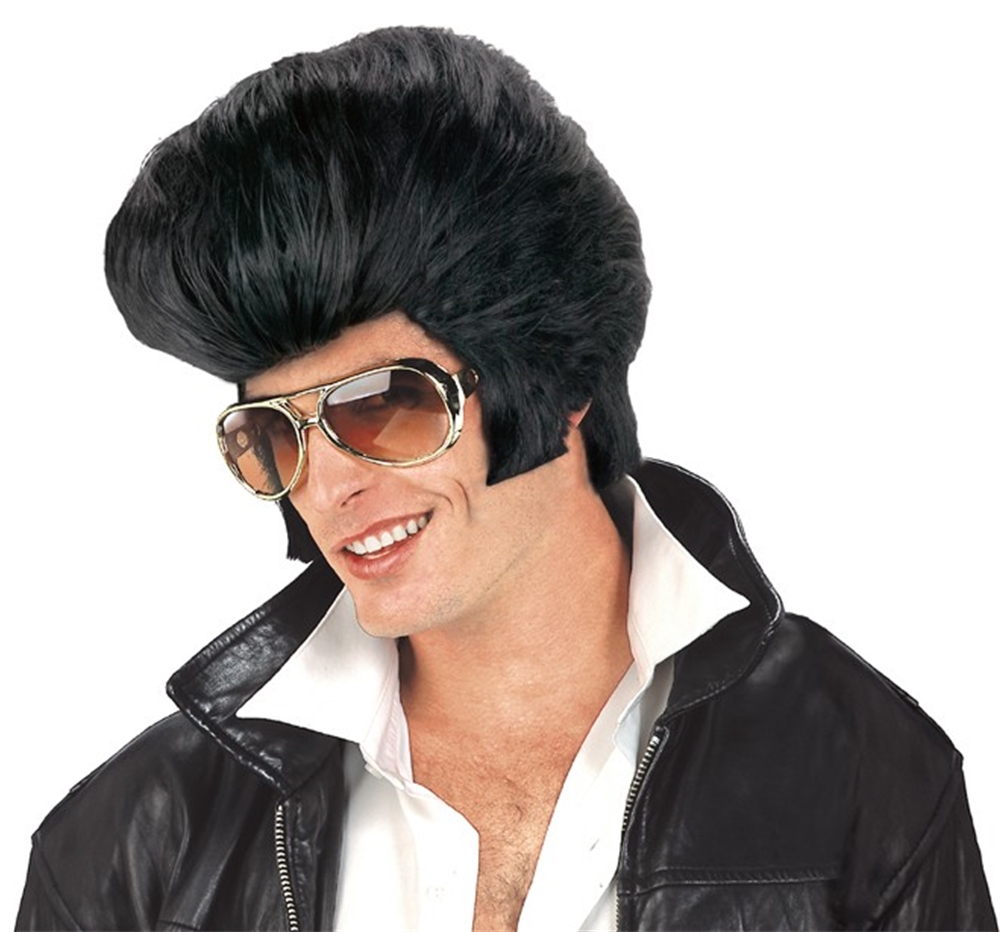 Rock & Roll Pompadour Black Wig