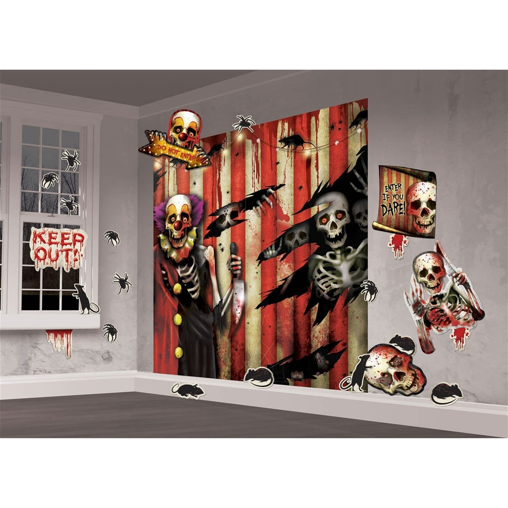 Creepy Carnival Wall Scene Setter Decoration Kit