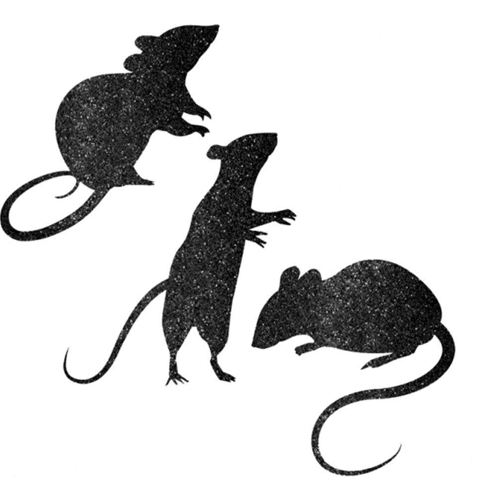 Glitter Mice Decorations - 309497