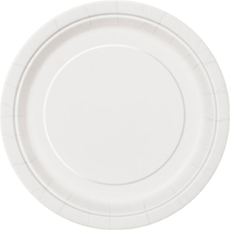 7″ Bright White Round Plates