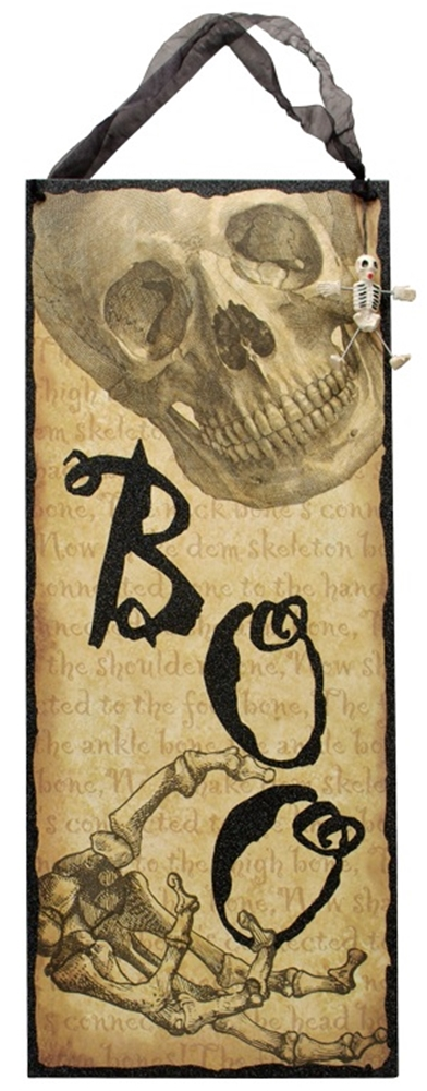 Image of Boo Skull Sign