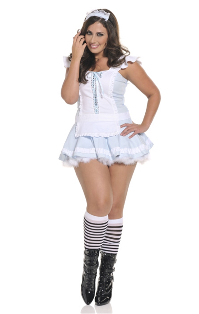 Image of Alluring Alice Plus Size Adult Womens Costume