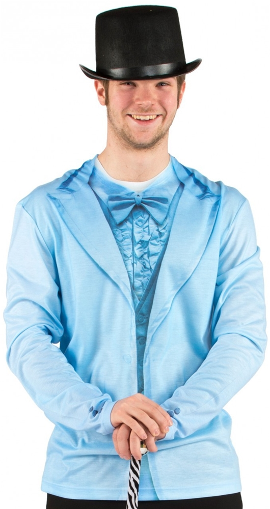 Blue Tuxedo Adult Mens Shirt
