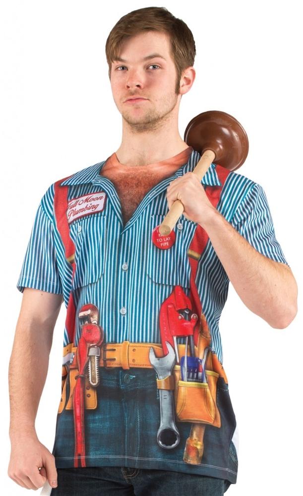 Image of Plumber Adult Mens Shirt