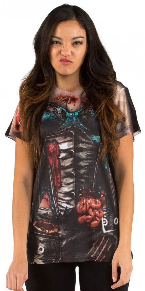 Corset Zombie Adult Womens Shirt by Fauxreal