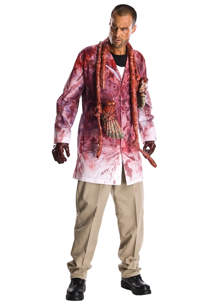 The Walking Dead Zombie Guts Rick Adult Mens Costume