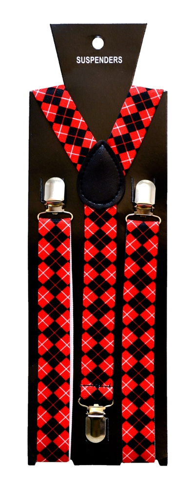 Red Plaid Suspenders