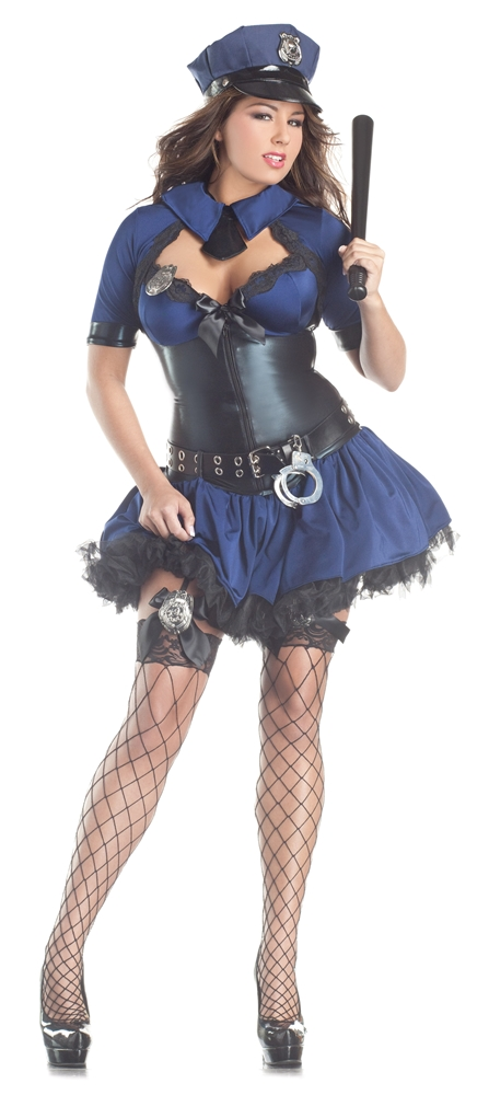 Sultry SWAT Officer Adult Womens Costume by Leg Avenue Sultry Officer Adult Womens Plus Size Costume by Party King  sc 1 st  Halloween Costumes & Sultry SWAT Officer Plus Size Adult Womens Costume by Leg Avenue ...