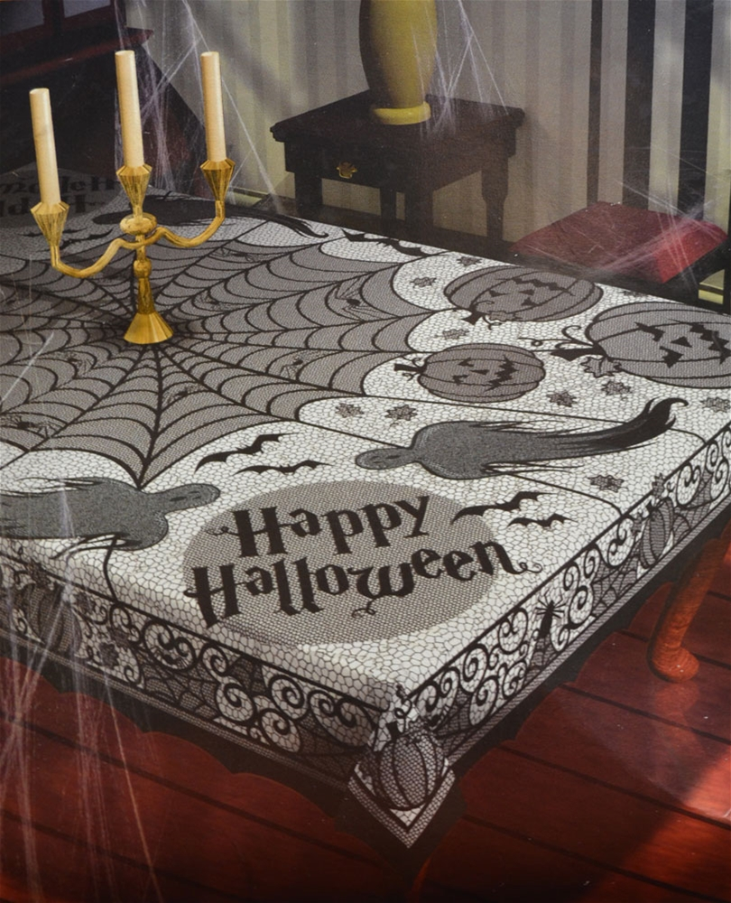 Image of Web Halloween Table Cloth