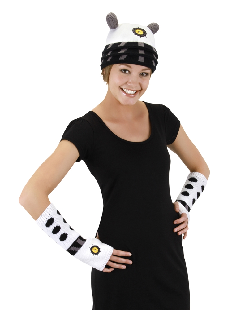 doctor who white dalek arm warmers