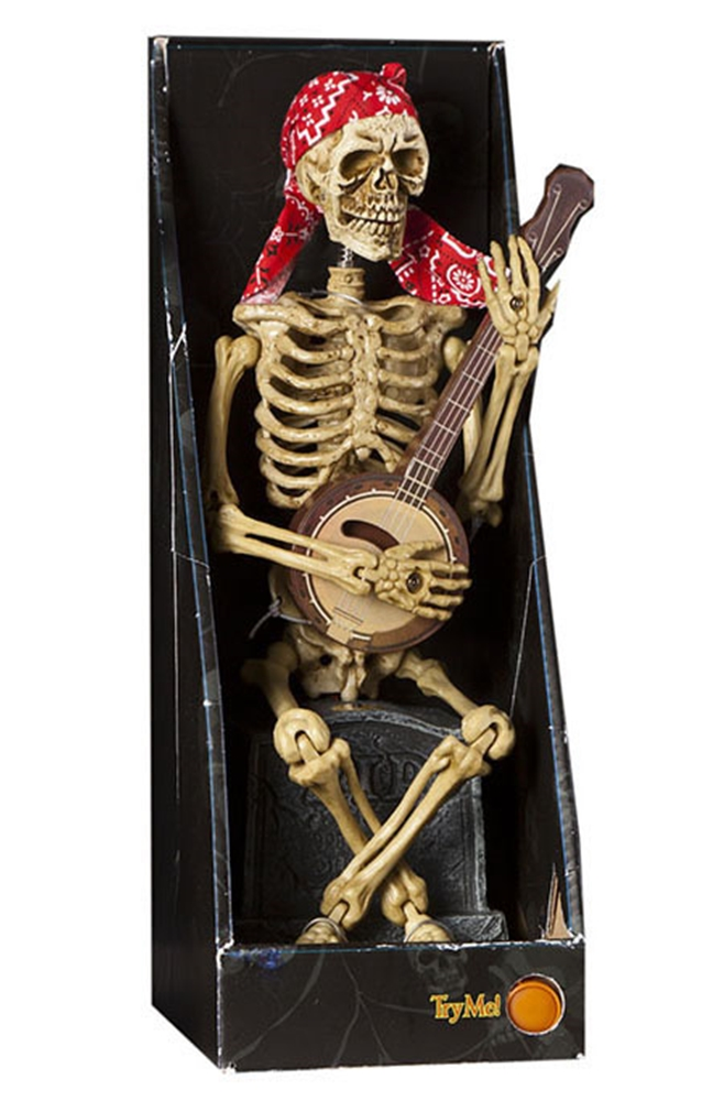 Animated Skeleton Banjo Player 12in