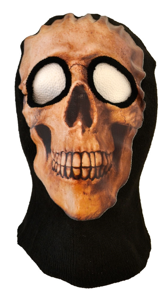 Brown Skull Ski Mask