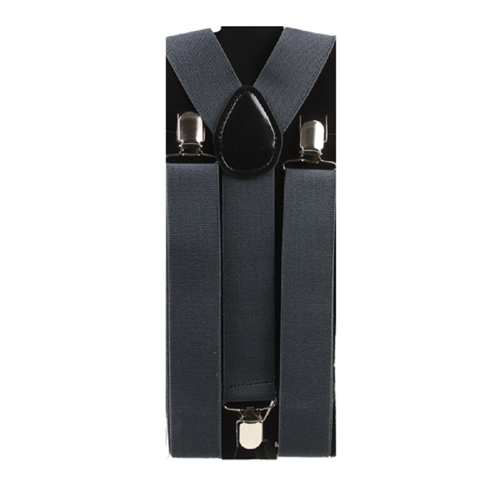 Black Wide Suspenders