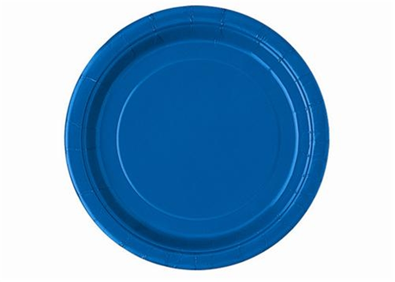 7″ Royal Blue Round Plates