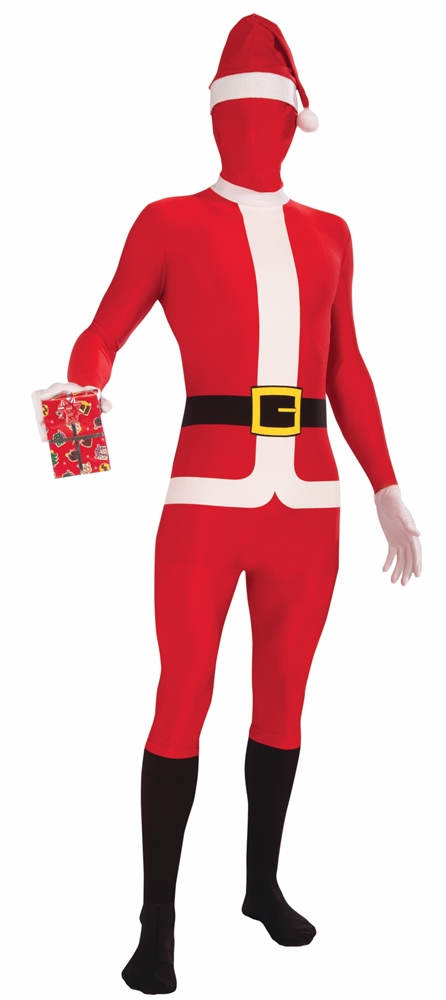 Santa Claus Disappearing Man Adult Mens Skin Costume