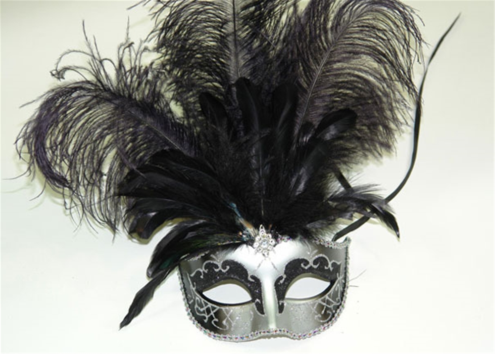 Carnival Style Masquerade Mask with Feathers (More Colors) by K.B.W. Global Corp